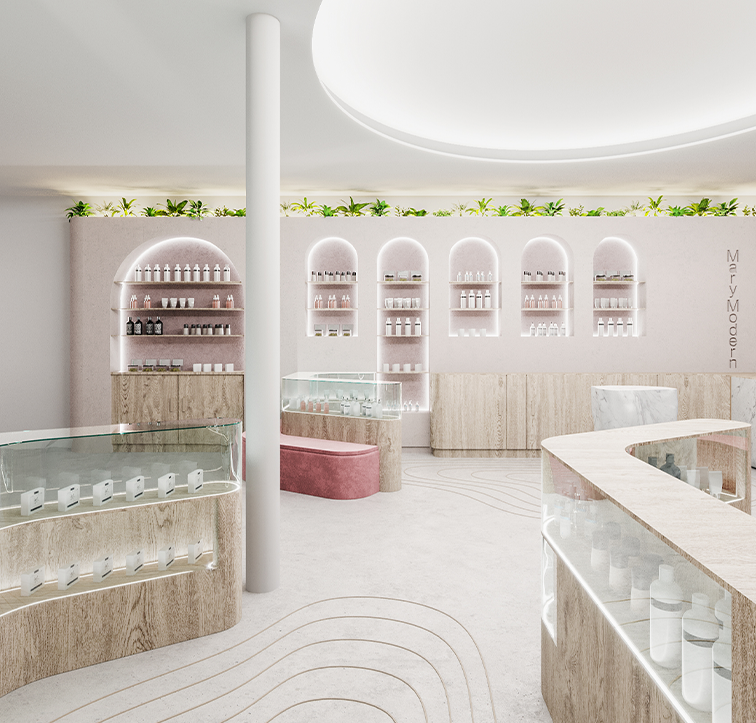 MM Dispensary interior mockup