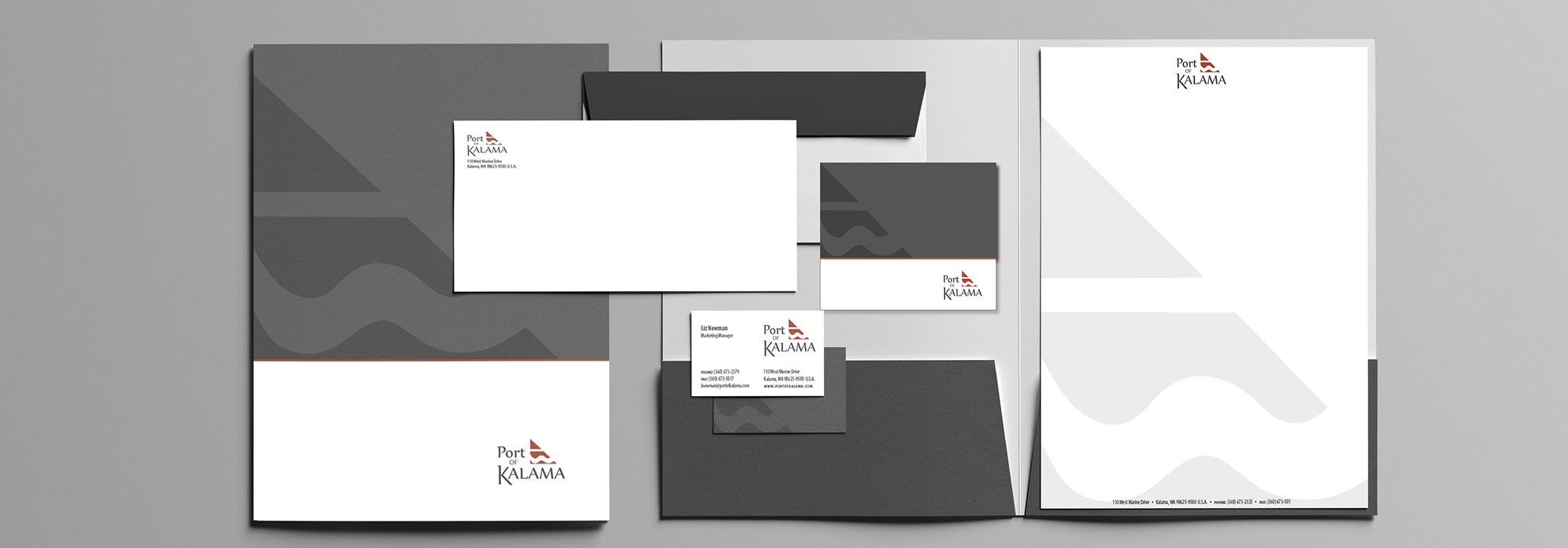 Port of Kalama identity design