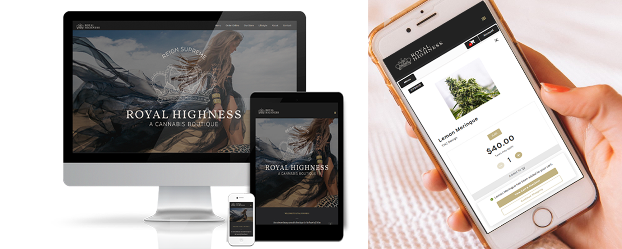 Royal Highness web design