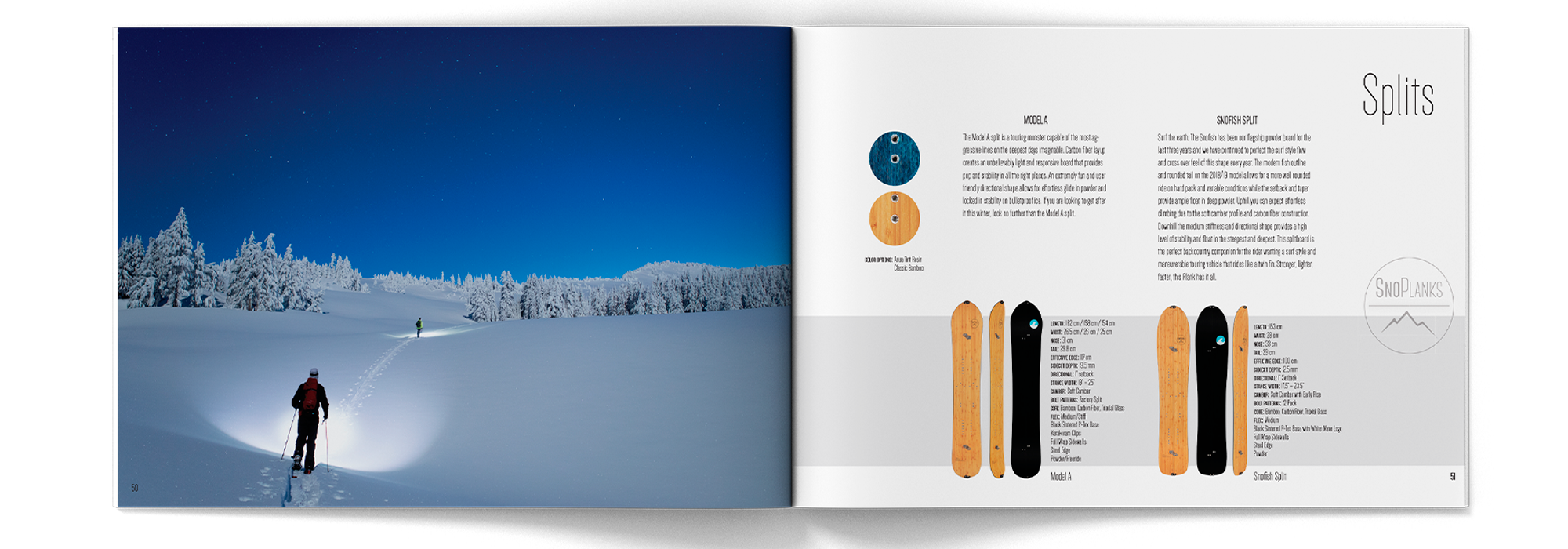 SnoPlanks product catalog lookbook
